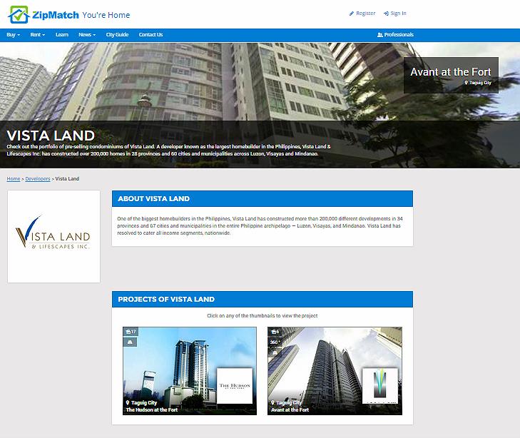 developer info page