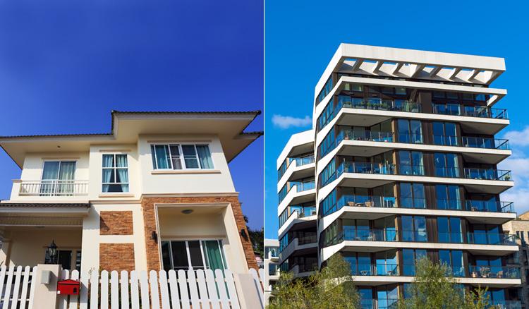 House versus condominium